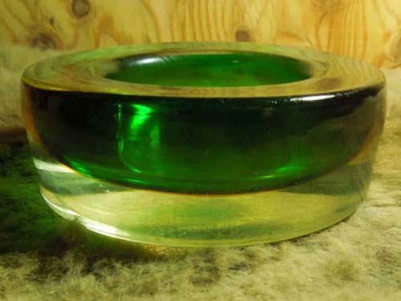 Antique ashtray アンティーク ムラノガラス、クリスタルガラスの灰皿