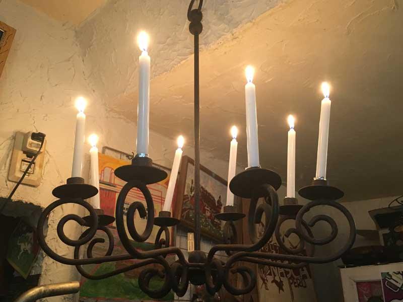 Antique Light/アイアン・キャンドルスタンド・シャンデリア・8灯
